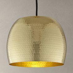 Buy John Lewis Thalia Hammered Brass Pendant Light Online at johnlewis.com