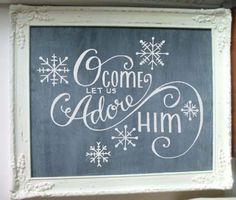 O Come Let Us Adore Him. Hand-drawn Custom Vinyl Wall Decal