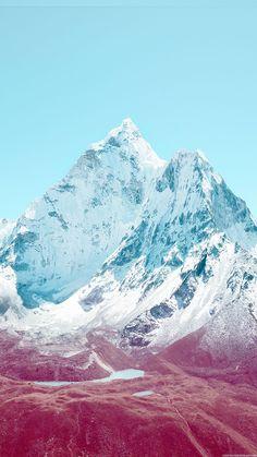 Apple iOS7 Stock Lock Screen Mountains iPhone 6 Plus HD Wallpaper