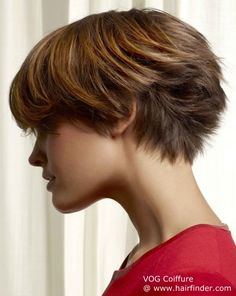 short hair, side/back view