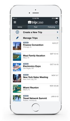 a single place for all your trips             TripCase gives travelers a single place to manage and organize their trips. Connected to powerful technology