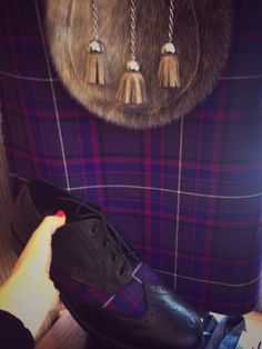 Matching tartan accessories available in shoes, ties, cufflinks. sporrans, cravats, kilts, trousers, jackets. This tartan is 'Highland Thistle' and available at Kilts4All.com Kings Cross, London