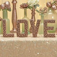 Step-by-step instructions on how to make these rose gold pearl accented letters. Perfect for wedding and party decorations!