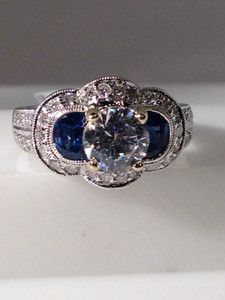 Another unique sapphire engagement ring