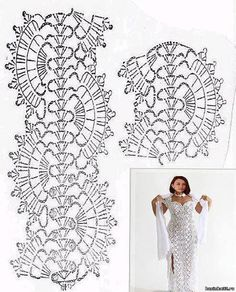 """The location where building and construction meets style, beaded crochet is the act of using beads to decorate crocheted products. """"Crochet"""" is derived fro Crochet Lace Edging, Crochet Diagram, Crochet Chart, Bead Crochet, Irish Crochet, Crochet Girls, Crochet Woman, Crochet Stitches Patterns, Crochet Fashion"""