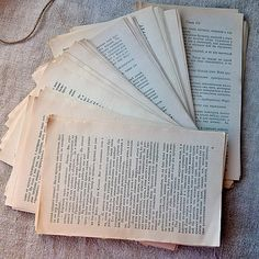 Vintage books various formats Ephemera retro papers by MyWealth