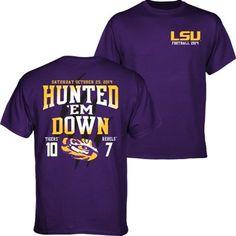 f5ac90c7e9e LSU Tigers vs. Ole Miss Rebels 2014 Score T-Shirt - Purple