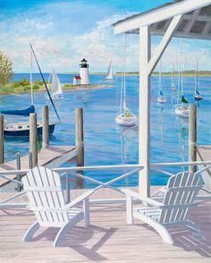Lighthouse View Mural - Carol Saxe| Murals Your Way