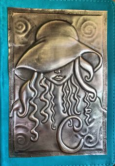 Pewter journal for Clauds … metal coke Tin Foil Art, Tin Art, Aluminum Foil Crafts, Metal Crafts, Pewter Art, Pewter Metal, Cardboard Sculpture, Metal Embossing, Tin
