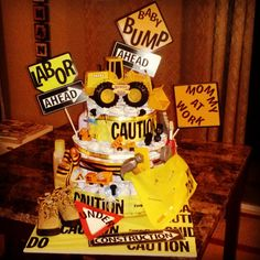 Under construction baby shower theme diaper cake Baby Party, Baby Shower Parties, Baby Shower Themes, Baby Shower Decorations, Shower Ideas, Baby Showers, Baby Shower Cakes, Baby Boy Shower, Baby Shower Gifts