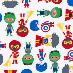 AAK-14157-204 by Ann Kelle from Super Kids: Robert Kaufman Fabric Company