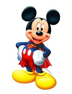 Mickey Mouse as Superman Disney Mickey Mouse, Mickey Mouse E Amigos, Walt Disney, Mickey E Minnie Mouse, Mickey Love, Mickey Mouse And Friends, Disney Fun, Mickey Mouse Cartoon, Wallpaper Do Mickey Mouse