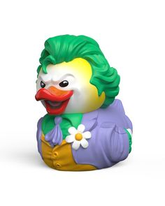 Buy Tubbz: Joker - Cosplay Duck at Mighty Ape NZ. Tubbz: DC Comics – Cosplay Duck (Joker) The term Cosplay is a blend of the words Costume & Play, a performance art in which Humans…I mean Duck. Logo Batman, Le Joker Batman, Joker Game, Crash Bandicoot, Beetlejuice, Fallout, Spyro Le Dragon, Gotham, Duck Memes