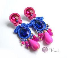 Soutache Jewelry. Artystyczna Biżuteria Autorska Katarzyna Wojtak: #0091 Ravena. Kolczyki Sutasz.