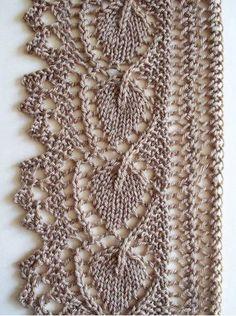 Resultado de imagem para different lace knitting stitches Lace Knitting Stitches, Lace Knitting Patterns, Knitting Charts, Lace Patterns, Free Knitting, Baby Knitting, Knit Edge, Crochet Lace, Filet Crochet