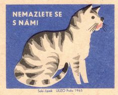 Vintage Czech matchbox label (1965)
