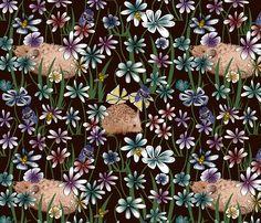 MY GARDEN fabric by house_of_heasman on Spoonflower - custom fabric