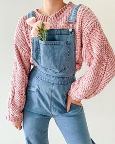 Our don't quit your daydream sweater and lavender paths overalls 🏹🌸✨Tap to shop this look Pretty Outfits, Cool Outfits, Casual Outfits, Fashion Outfits, Dress Fashion, Aesthetic Fashion, Aesthetic Clothes, Looks Style, My Style