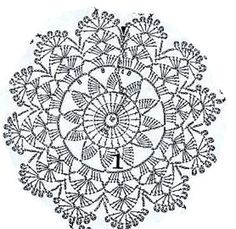 Small motifs that can be connected into a larger piece. Crochet Doily Diagram, Crochet Mandala Pattern, Crochet Circles, Crochet Blocks, Crochet Doily Patterns, Crochet Chart, Crochet Squares, Thread Crochet, Crochet Designs