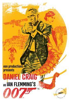 James Bond Movie Posters, James Bond Theme, James Bond Movies, Half A Decade, Dramatic Arts, Roger Moore, Thing 1, Daniel Craig, Art Direction