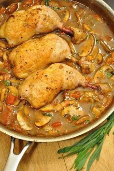 Among my favorite classic French dishes from Fancy French Cooking School! Poulet Sauté Chasseur, or Hunter's Chicken - Food Gypsy