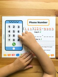 Phone Number Practice Printable