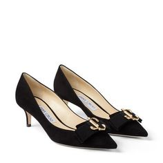 Ari Black Suede Pointed Toe Pumps with Grosgrain Bow. Discover our Autumn Winter 19 Collection and shop the latest trends today. Luxury Definition, Trending Today, Pointed Toe Pumps, Suede Pumps, Feminine Dress, Grosgrain, Black Suede, Jimmy Choo, Latest Trends