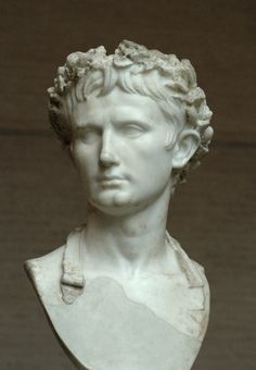 Bust of Augustus, wearing the Civic Crown