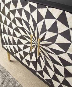 Varley Bone Inlay Sideboard - Julian Joseph Sideboard Cabinet, Accent Furniture, Interior Inspiration, Crates, Joseph, Lounge, Retro, Pattern, Vintage