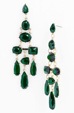 #emerald chandelier earrings #coloroftheyear cc @PANTONE COLOR $28