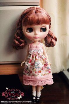 Lovely bird dress For Blythe,Momoko,Licca