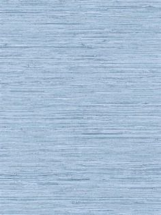 Blue Horozontal Grasscloth Wallpaper