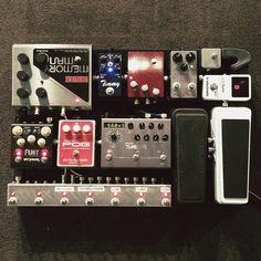 @calebshane's pedal board.                                                                                                                                                                                 Mais