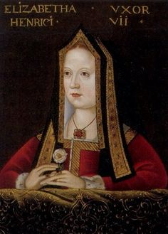 Elizabeth of York, c1500. This is the only surviving contemporary portrait of Henry VII's wife. Born in 1465 to King Edward IV and Elizabeth Woodville, Elizabeth was the sole surviving heir of the house of York after her two brothers mysteriously disappeared from the Tower of London. She married Henry VII after his victory at Bosworth Field, where he defeated her uncle, King Richard III. Elizabeth died on her thirty-eighth birthday after her eighth pregnancy ended in stillbirth.
