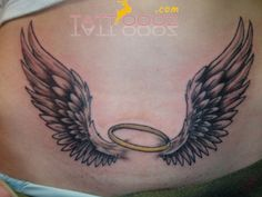 Small Angel Wings Tattoo For Girlstattoos On Pinterest Mztzguq