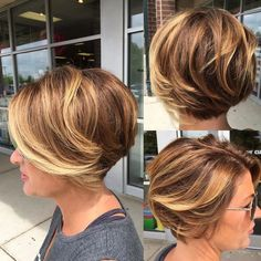 Love this style! Get more inspiration and share your own new look now Chic Short Hair, Short Grey Hair, Short Hair Cuts For Women, Medium Bob Hairstyles, Hairstyles Haircuts, Medium Hair Styles, Short Hair Styles, World Hair, Hair Shows