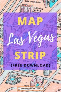 This Las Vegas Strip map shows all the major hotels and casinos… Las Vegas Strip Hotels, Las Vegas Deals, Las Vegas Tips, Las Vegas Today, Las Vegas Vacation, Visit Las Vegas, Italy Vacation, Romantic Vacations, Romantic Travel