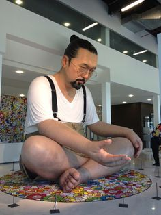 A 20-foot high blow-up version of Takeshi Murukami greeted those who went to see the Murakami-Ego exhibition in Qatar, 2012.