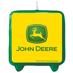 John Deere Tractor Molded Candle - 79629