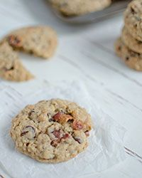 Bacon-Chocolate-Chip-Oatmeal Cookies Recipe on Food & Wine - is it weird that I want to try these??
