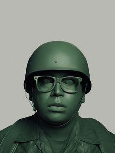 Uniform greeen soldier portrait photography by John Keatley design mindsparkle mag