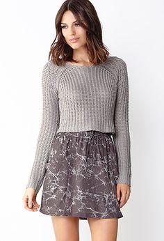 Tie-Dye Structured Skirt | LOVE21 - 2000070616