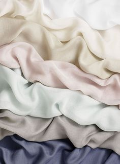 SAHCO 2016 Collection - PASHMINA is characterised by its delicacy – a filigree, delicate weave of cashmere and modal that feels like smooth, soft pashmina. A simple, cahrming semi-transparent fabric.