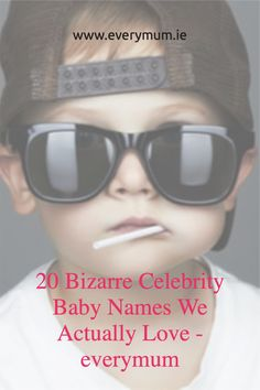 Celebrity baby names might not be for everybody - but these ones are too good not to love! If you're looking for a unique baby names take a look... #celebritybabynames #celebbabynames #uniquebabynames