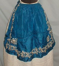 Silk embroidered apron - ebay