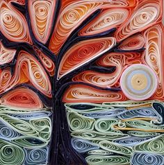 Handmade Abstract mosaic art abstract tree tree mosaic by DKBrownCreations on Etsy
