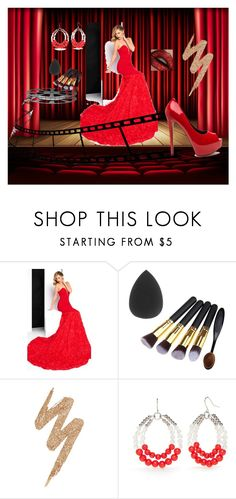 """""""Bout that Red Carpet Life: Cinema"""" by dazzling0822 ❤ liked on Polyvore featuring Mac Duggal, Urban Decay, Accessory PLAYS and cinema"""