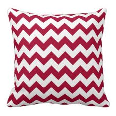 Candy Cane Red & White Zig Zag Pillow #christmas #home #americanmojo #americanmojo  Each pillow purchased helps employ and enrich the lives of single women and their children <3