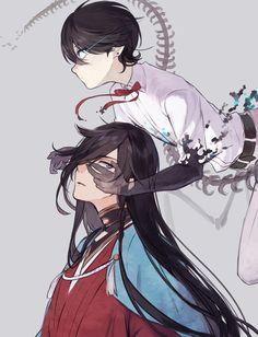 Touken Ranbu, Old Anime, Anime Art, Anime Monochrome, Otaku, Handsome Anime Guys, Manga Boy, Art Reference, Anime Couples