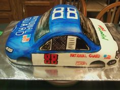 My Dale Earnhart Jr car.  I'm not a big nascar fan, but I made this for a friend's husband.  Boy did I take a ribbing from some folks that were fans of other drivers!
